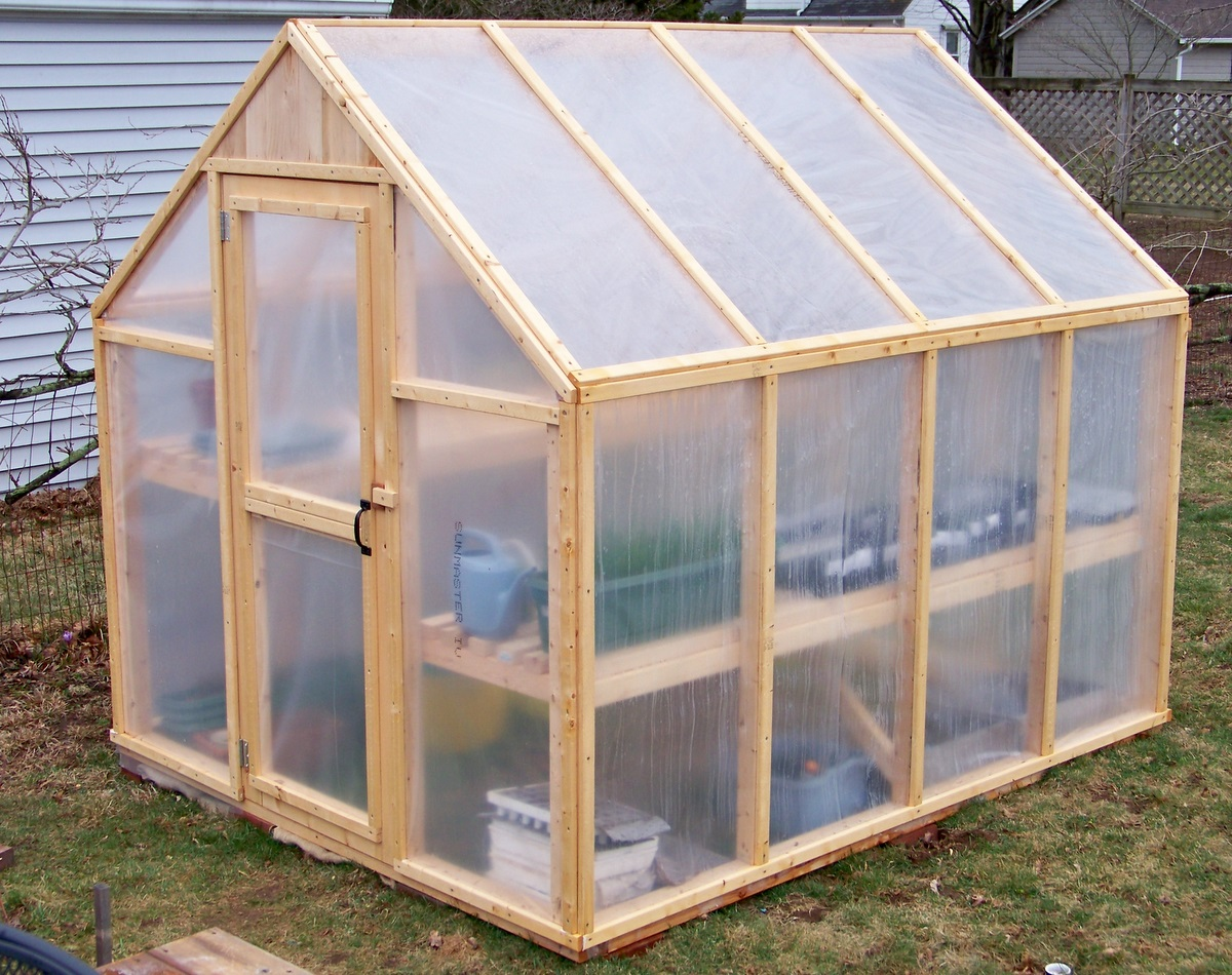 how to build a small wooden greenhouse step by step